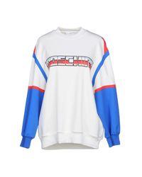 Moschino - White Sweatshirt - Lyst