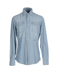 Hydrogen - Blue Denim Shirts for Men - Lyst