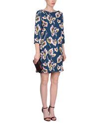 Marni - Blue Short Dress - Lyst
