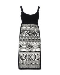 Angelo Marani - Black Short Dress - Lyst