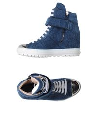 Miu Miu - Blue High-tops & Sneakers - Lyst