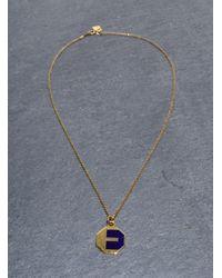 Lily Kamper - Blue Navy Alphabet Pendant: E - Lyst
