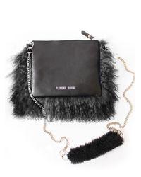 Florence Bridge - Bianca Fluffy Crossbody Bag In Black - Lyst