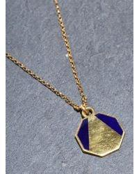 Lily Kamper | Blue Navy Alphabet Pendant: A - Last One | Lyst