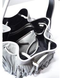 Gvyn | Multicolor Yuri Coachella Fringed Bucket Bag In Cement | Lyst