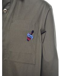 J.won - Multicolor Bowling Pin Long Shirt In Olive Green - Lyst