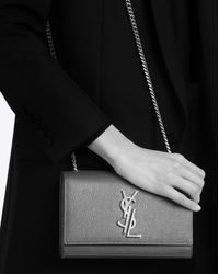 Saint Laurent | Small Kate Monogram Satchel In Lipstick Red Leather | Lyst