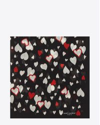 Saint Laurent - Black Etamine Cashmere and Silkblend Scarf - Lyst