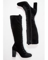 Madden Girl | Black Frolic High Heeled Boots | Lyst