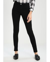 Noisy May Tall   Black Nmgreat Lucy Slim Fit Jeans   Lyst
