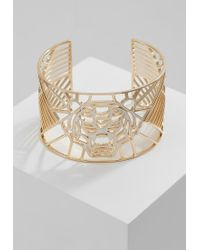KENZO   Metallic Tiger Lace Cuff Bracelet   Lyst