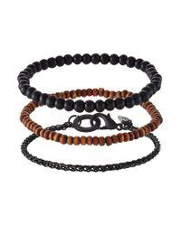 Icon Brand | Black 3 Pack Bracelet for Men | Lyst