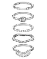ALDO | Metallic Galirawia 5 Pack Ring | Lyst
