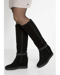 Aquatalia | Black Callie Wedge Boots | Lyst