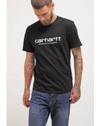Carhartt WIP   Black Wip Script Print T-shirt for Men   Lyst