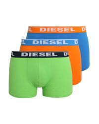 DIESEL | Orange Umbx-shawn Boxer 3 Pack Shorts for Men | Lyst