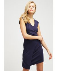 French Connection | Blue Jersey Dress | Lyst