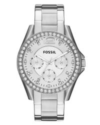 Fossil | Metallic Riley Watch | Lyst