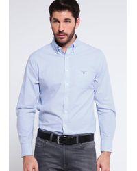 GANT | Blue Regular Fit Shirt for Men | Lyst