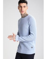 Jack & Jones | Blue Jorneo Knit Fit Jumper for Men | Lyst