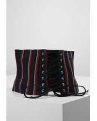 River Island | Blue Stripe Corset Belt | Lyst