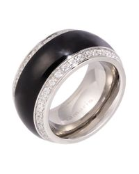Tamaris   Black Martha Ring   Lyst