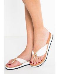 Tommy Hilfiger | White Monica T-bar Sandals | Lyst