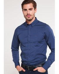 Tommy Hilfiger | Blue Slim Fit Shirt for Men | Lyst