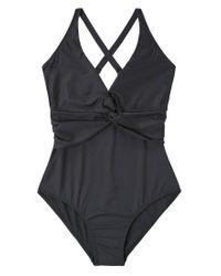 Violeta by Mango | Black Swimsuit | Lyst