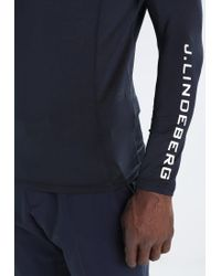 J.Lindeberg | Blue Aello Slim Soft Long Sleeved Top for Men | Lyst