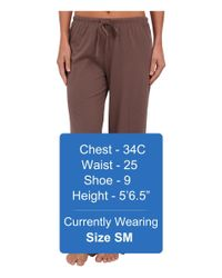 Jockey Brown Cotton Essentials Long Pajama Pant (taupe) Women's Pajama