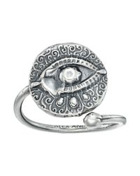 ALEX AND ANI - Metallic Evil Eye Ring Wrap (sterling Silver) Ring - Lyst