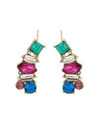 Betsey Johnson - Multicolor Stone Earrings Crawler - Lyst
