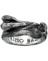 King Baby Studio - Metallic Bone Ring - Lyst