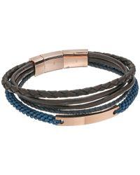 Fossil - Blue Vintage Casual Steel Multi-strand Bracelet - Lyst