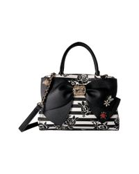 Betsey Johnson - Black Glam Garden Bow Satchel - Lyst