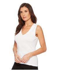 Lilla P - White V-neck Tank Top (navy) Women's Sleeveless - Lyst