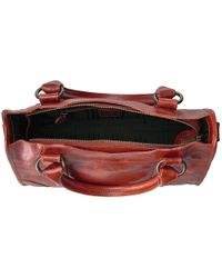 Frye - Red Melissa Satchel (ice Antique Pull Up) Satchel Handbags - Lyst
