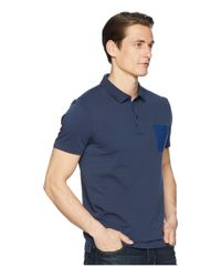 BOSS Orange Blue Pocket Polo for men