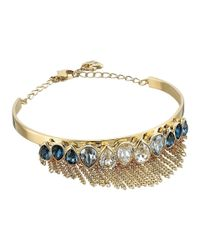 Swarovski - Metallic Gipsy Bangle Bracelet - Lyst