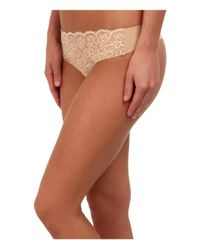Commando - White Double Take Lace Thong Lt14 - Lyst