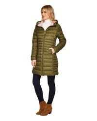 Save The Duck - Green Long Basic Nylon Coat - Lyst
