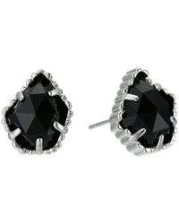 Kendra Scott - Black Tessa Earring (gold/abalone Shell) Earring - Lyst