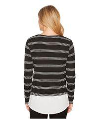 Calvin Klein - Black Texture Stripe Twofer - Lyst