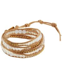 "Chan Luu - Metallic 32"" Mystic Clear Mix Wrap Bracelet - Lyst"