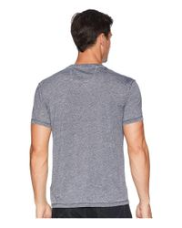 John Varvatos - Gray Short Sleeve Jasper Burnout Crew (night Sky) Men's Clothing for Men - Lyst