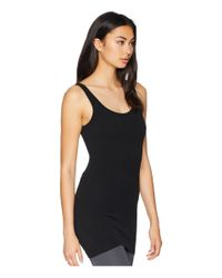Hard Tail - Black Long Skinny Tank Top (two Color Iceberg) Women's Workout - Lyst