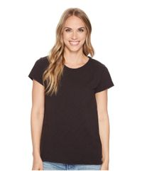 Dylan By True Grit - Luxe Cotton Slub Short Sleeve Crew Tee With Back Detail Seam Stitch (black) Women's T Shirt - Lyst
