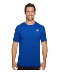 New Balance Blue Fantom Force Short Sleeve Top for men