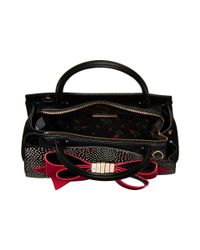 Betsey Johnson - Black Removable Bow Satchel - Lyst